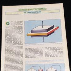 Libros de segunda mano: CONOZCA LOS COMPONENTES,EL CONDESADOR.. Lote 148576558