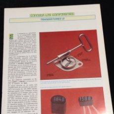 Libros de segunda mano: CONOZCA LOS COMPONENTES,TRANSISTORES (I).. Lote 148577562