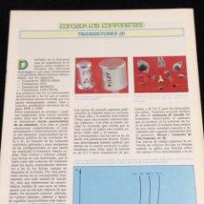 Libros de segunda mano: CONOZCA LOS COMPONENTES,TRANSISTORES (II).. Lote 148577752
