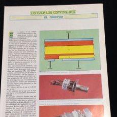 Libros de segunda mano: CONOZCA LOS COMPONENTES,EL TIRISTOR.. Lote 148583250