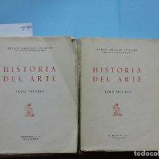 Libros de segunda mano: HISTORIA DEL ARTE TOMO I Y II. ANGULO IÑIGUEZ, DIEGO. MADRID 1967. REIMPRESIÓN. Lote 148733482