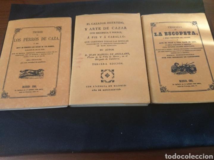 LOTE: TESORO DE LOS PERROS DE CAZA, EL CAZADOR INSTRUIDO Y TESORO DE LA ESCOPETA (Libros de Segunda Mano - Ciencias, Manuales y Oficios - Otros)