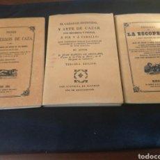 Libros de segunda mano: LOTE: TESORO DE LOS PERROS DE CAZA, EL CAZADOR INSTRUIDO Y TESORO DE LA ESCOPETA. Lote 148917645