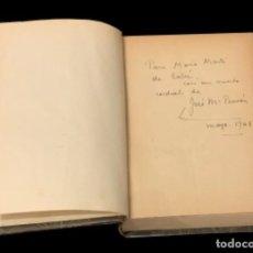 Libros de segunda mano: EL SEÑOR DE SU ÁNIMO, JOSE MARÍA PEMÁN, DEDICATORIA DEL AUTOR. Lote 149014282
