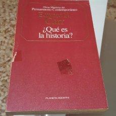 Libros de segunda mano: ¿QUÉ ES LA HISTORIA? - EDWARD H. CARR - OBRAS MAESTRAS DEL PENSAMIENTO CONTEMPORÁNEO. Lote 149087238