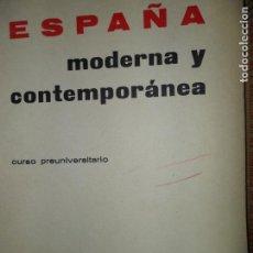 Libros de segunda mano: ESPAÑA MODERNA Y CONTEPORÁNEA, JOSÉ Mª JOVER, ED. TEIDE. Lote 149204614