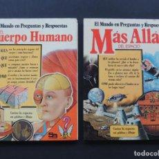 Libros de segunda mano: EL CUERPO HUMANO - MAS ALLA DEL ESPACIO / EL MUNDO EN PREGUNTAS Y RESPUESTAS 7 ED. SM 1979. Lote 149578182