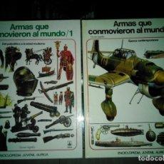 Libros de segunda mano: ARMAS QUE CONMOVIERON AL MUNDO, V. SEGRELLES, 1 Y 2 ENCICLOPEDIA JUVENIL AURIGA. Lote 149622770