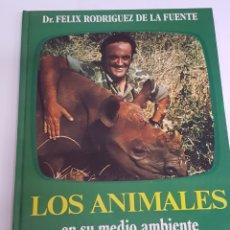 Libros de segunda mano: LOS ANIMALES EN SU MEDIO AMBIENTE. FELIX RODRIGUEZ DE LA FUENTE. ED. JAIMES LIBROS. 1976 - ARM06. Lote 149748362