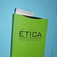 Libros de segunda mano: ÉTICA. BONHOEFFER, DIETRICH. COL. ESTRUCTURAS Y PROCESOS. ED. TROTTA. VALLADOLID 2000. Lote 149813990