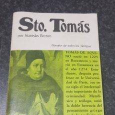 Libros de segunda mano: SANTO TOMAS - STANISLAS BRETON - TDK2. Lote 149980858