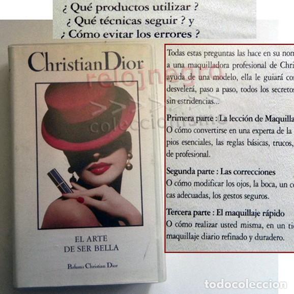 DOCUMENTAL CHRISTIAN DIOR EL ARTE DE SER BELLA VHS NO LIBRO- CONSEJOS BELLEZA GUÍA MAQUILLAJE TRUCOS (Libros de Segunda Mano - Ciencias, Manuales y Oficios - Otros)