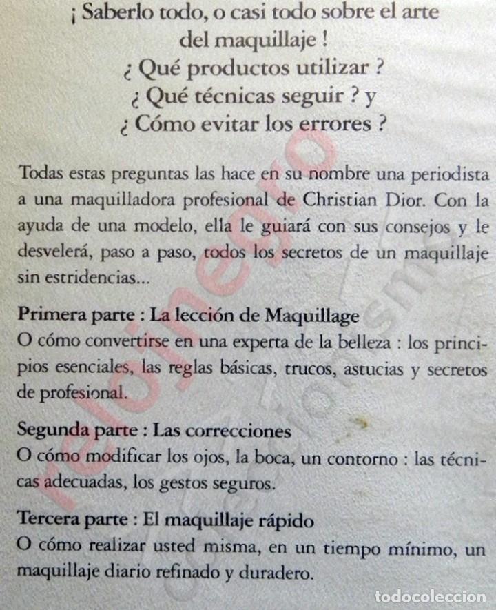 Libros de segunda mano: DOCUMENTAL CHRISTIAN DIOR EL ARTE DE SER BELLA VHS NO LIBRO- CONSEJOS BELLEZA GUÍA MAQUILLAJE TRUCOS - Foto 2 - 150134022