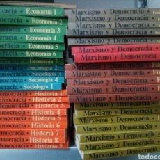 Libros de segunda mano: MARXISMO Y DEMOCRACIA, 39 LIBROS, ECONOMÍA, SOCIOLOGÍA, HISTORIA, DERECHO, FILOSOFÍA, POLÍTICA Y CON. Lote 150134269