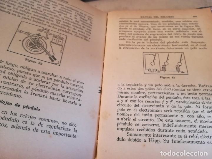 Libros de segunda mano: Manual del relojero práctico. Relojes eléctricos - Hans Berthoud - 1946 - Impreso en Argentina - Foto 15 - 150232874
