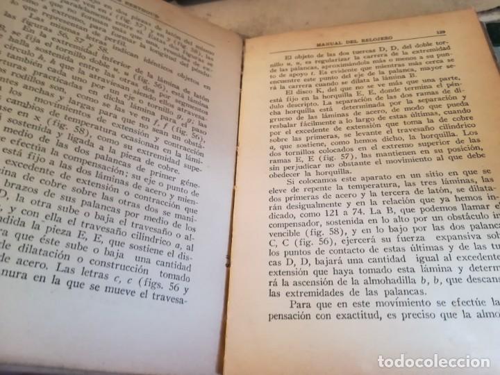 Libros de segunda mano: Manual del relojero práctico. Relojes eléctricos - Hans Berthoud - 1946 - Impreso en Argentina - Foto 16 - 150232874