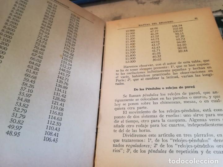 Libros de segunda mano: Manual del relojero práctico. Relojes eléctricos - Hans Berthoud - 1946 - Impreso en Argentina - Foto 17 - 150232874