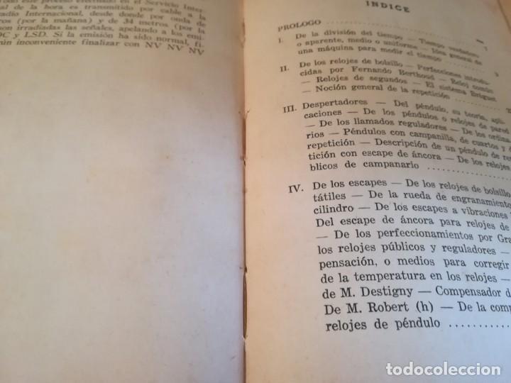 Libros de segunda mano: Manual del relojero práctico. Relojes eléctricos - Hans Berthoud - 1946 - Impreso en Argentina - Foto 20 - 150232874