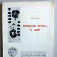 Libros de segunda mano: BLAS AZNAR // PERSONALIDAD BIOLÓGICA DE AZORÍN // DEDICATORIA AUTÓGRAFA. Lote 150354334