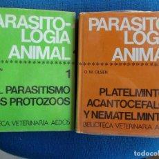 Livres d'occasion: PARASITOLOGÍA ANIMAL AEDOS TOMO I Y II. Lote 150487390