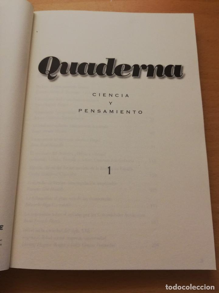 Libros de segunda mano: QUADERNA. CIENCIA Y PENSAMIENTO Nº 1 (FUNDACIÓ ANTONI MAURA) - Foto 2 - 150497442