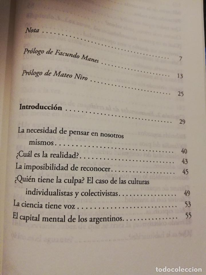 Libros de segunda mano: EL CEREBRO ARGENTINO. UNA MANERA DE PENSAR, DIALOGAR Y HACER UN PAÍS MEJOR (FACUNDO MANES / M. NIRO) - Foto 3 - 150497606