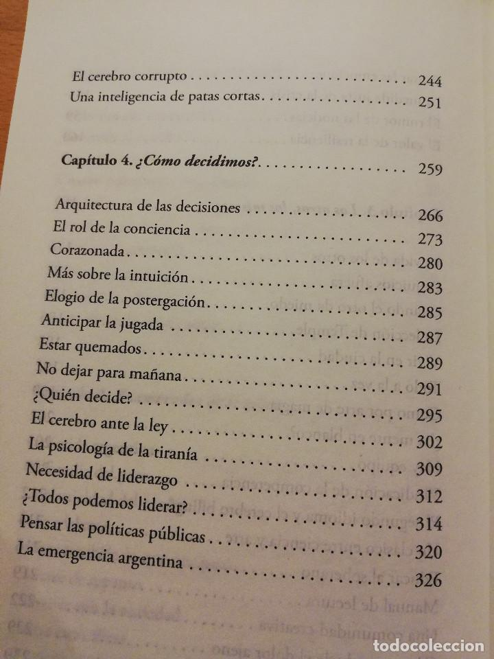 Libros de segunda mano: EL CEREBRO ARGENTINO. UNA MANERA DE PENSAR, DIALOGAR Y HACER UN PAÍS MEJOR (FACUNDO MANES / M. NIRO) - Foto 6 - 150497606