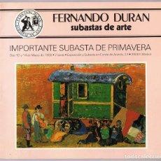 Libros de segunda mano: FERNANDO DURAN SUBASTAS DE ARTE . Lote 150539070
