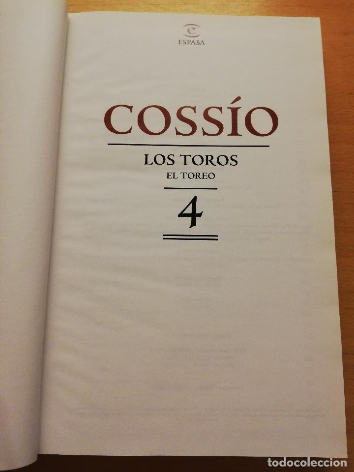 Libros de segunda mano: COSSÍO. LOS TOROS. EL TOREO (Nº 4) ESPASA - Foto 2 - 150575234