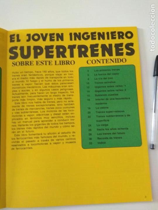 Second hand books: El joven ingeniero,supertrenes,1979, ediciones plesa - Foto 4 - 150646590