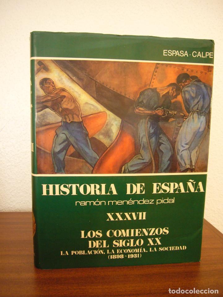 Libros de segunda mano: HISTORIA DE ESPAÑA VOL. XXXVII (ESPASA CALPE, 1984) RAMÓN MENÉNDEZ PIDAL (DIR.) - Foto 2 - 150652602