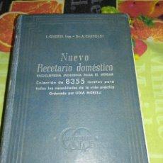 Libros de segunda mano: NUEVO RECETARIO DOMESTICO. Lote 150751166