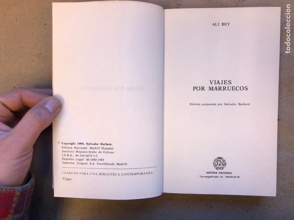 Libros de segunda mano: VIAJES POR MARRUECOS. ALI BEY. EDITORA NACIONAL 1985. 432 PÁGINAS. ILUSTRADO. - Foto 2 - 150947297