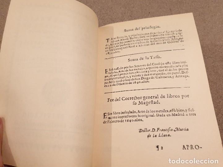 Libros de segunda mano: ARTE DE LOS METALES... FACSIMIL DEL LIBRO ORIGINAL DE 1540.........1977... - Foto 8 - 150950914