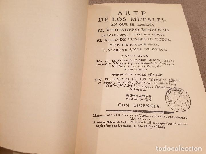 Libros de segunda mano: ARTE DE LOS METALES... FACSIMIL DEL LIBRO ORIGINAL DE 1540.........1977... - Foto 10 - 150950914