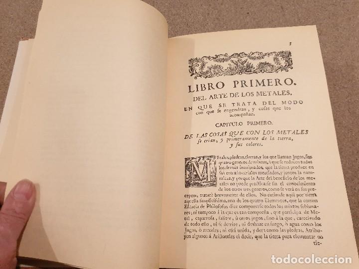 Libros de segunda mano: ARTE DE LOS METALES... FACSIMIL DEL LIBRO ORIGINAL DE 1540.........1977... - Foto 11 - 150950914