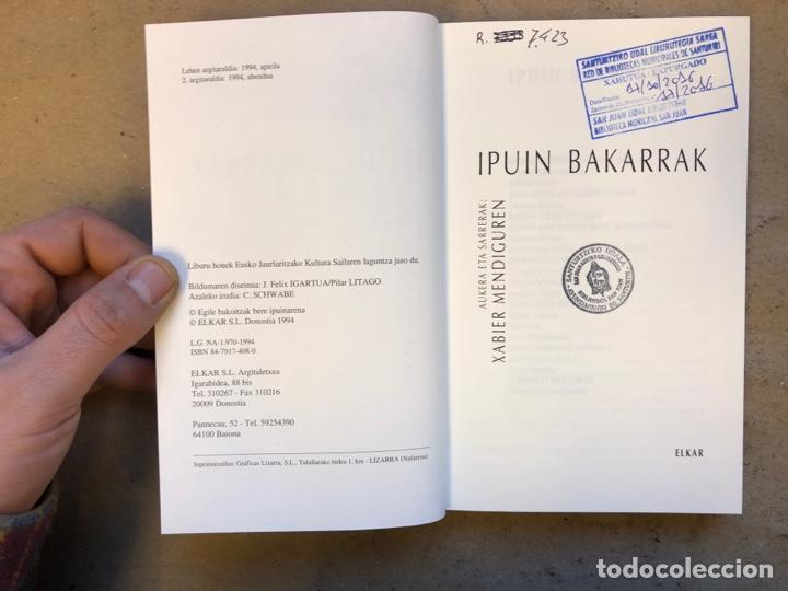 Libros de segunda mano: IPUIN BAKARRAK. XABIER MENDIGUREN. ELKAR 1994. EUSKARAZ. - Foto 2 - 150953770
