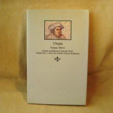 Livros em segunda mão: LIBRO UTOPÍA. TOMÁS MORO. Lote 150984290