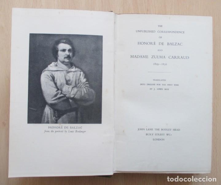 Libros de segunda mano: The unpublished Correspondence of Honoré de Balzac and Madame Zulma Carraud (1820 – 1830) - Foto 7 - 150986806