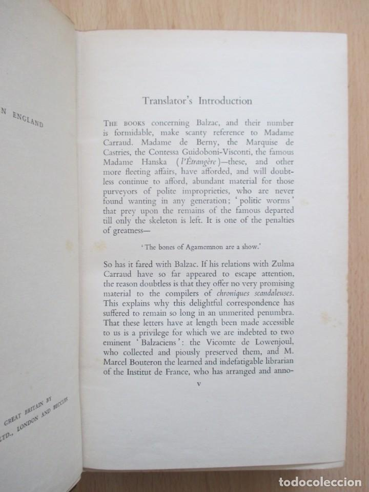 Libros de segunda mano: The unpublished Correspondence of Honoré de Balzac and Madame Zulma Carraud (1820 – 1830) - Foto 9 - 150986806