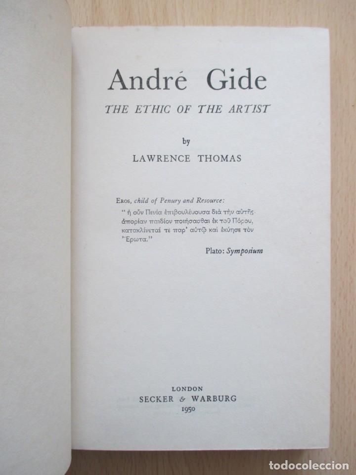 Libros de segunda mano: André Gide – The Ethic of the Artist, de D. Lawrence Thomas - Foto 8 - 150987114