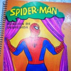 Libros de segunda mano: TROQUELADOS SPIDER MAN N 3 SPIDERMAN FUNCION DE DESPEDIDA.PORTADA TAL CUAL SE VE,POR DENTRO ESTA BIE. Lote 150999138