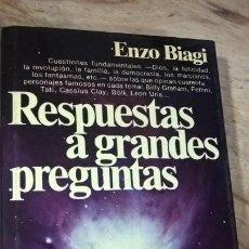 Libros de segunda mano: RESPUESTAS A GRANDES PREGUNTAS. ENZO BIAGI. PLANETA TAPA DURA CON SOBRECUBIERTA 1979 1ª EDICION. . Lote 151001458