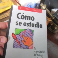 Livres d'occasion: LIBRO CÓMO SE ESTUDIA Mª TERESA SERAFINI 1997 CIRCULO DE LECTORES L-18069. Lote 151079474