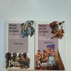 Libros de segunda mano: HISTORIA DEL ARTE EN ESPAÑA. - VALERIANO BOZAL. 2 TOMOS VOLUMENES I Y II. ISTMO FUNDAMENTOS. TDK363. Lote 151095750