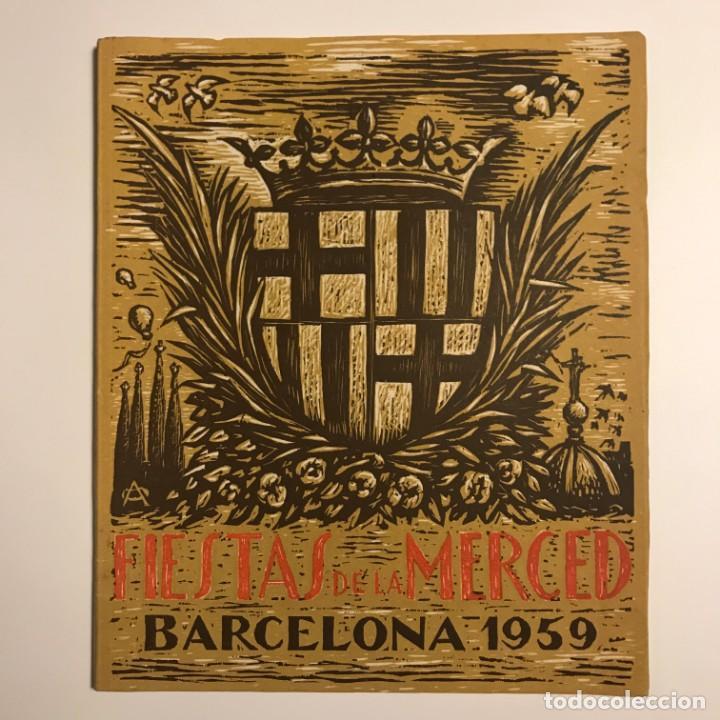 Libros de segunda mano: 1959 Fiestas de la Merced. Barcelona. Ilustraciones E.Mora. Xilografías Ollé Pinell. 17,3x20,6 cm - Foto 2 - 151354426