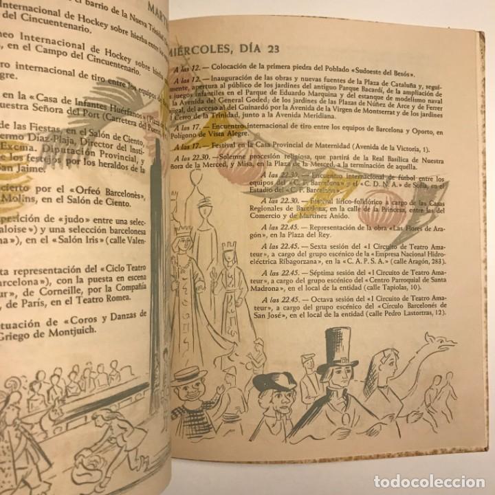 Libros de segunda mano: 1959 Fiestas de la Merced. Barcelona. Ilustraciones E.Mora. Xilografías Ollé Pinell. 17,3x20,6 cm - Foto 3 - 151354426
