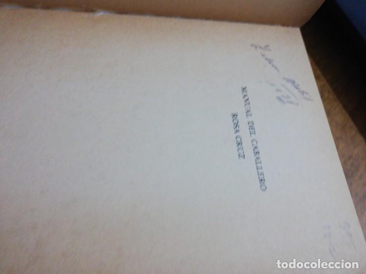 Libros de segunda mano: Manual del caballero rosa cruz - Foto 3 - 151457122