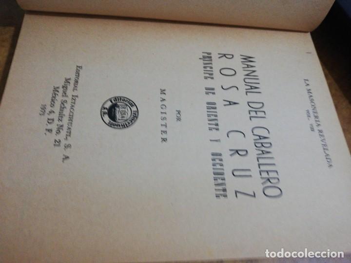 Libros de segunda mano: Manual del caballero rosa cruz - Foto 4 - 151457122