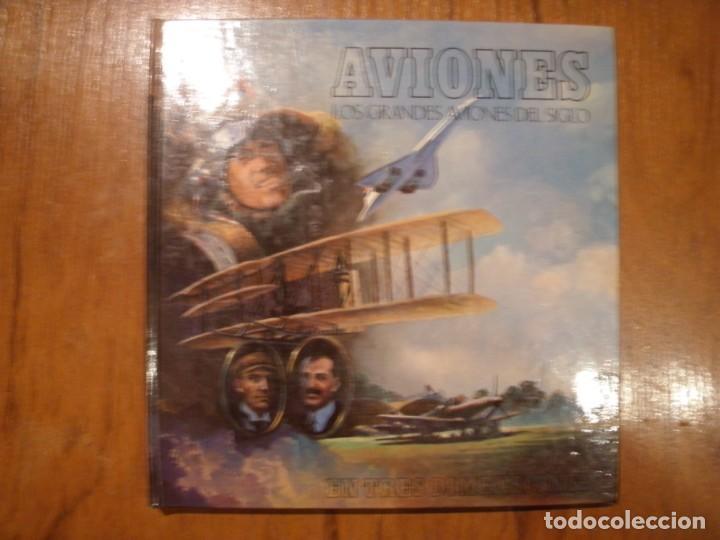 LIBRO LOS GRANDES AVIONES DEL SIGLO EN 3D MONTENA (Libros de Segunda Mano - Ciencias, Manuales y Oficios - Otros)